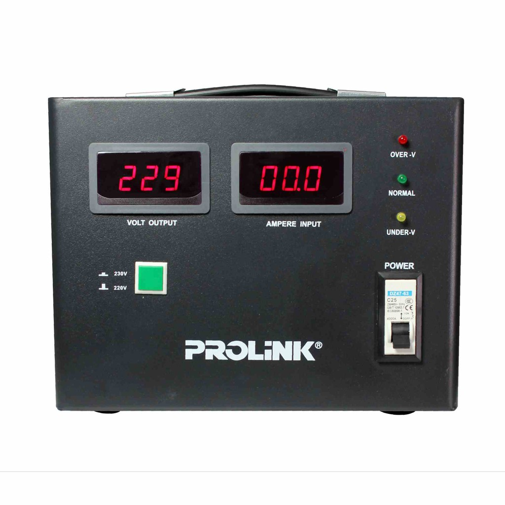 PROLiNK 5KVA/4000W Servo Motor Control Industrial Grade Stabilizer AVR Auto Voltage Stabilizer PVS5001CD