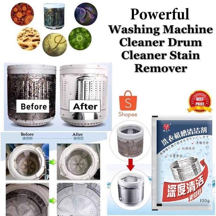 MALAYSIA: 500g SERBUK PENCUCI TUB MESIN BASUH DARI SIS SABUN & KAIN / Washing Machine Cleaner Powder