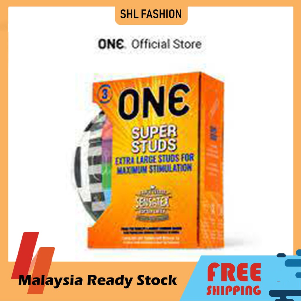 ONE Condoms Super Studs 3pcs Kondom SHL Ready Stock 安全套 避孕套