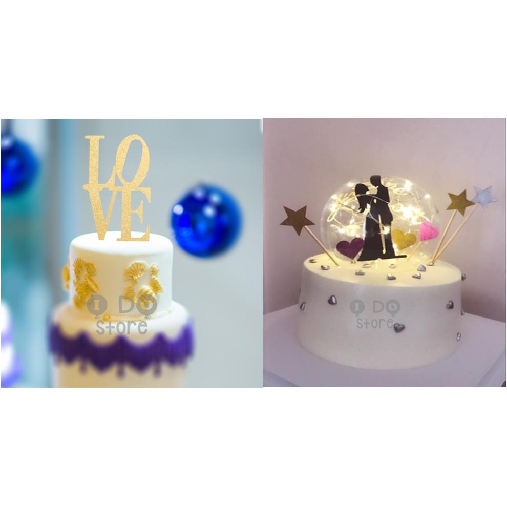 Ready Stock Diy Wedding Birthday Anniversary Cake Topper Cake S Stand