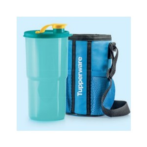 TUPPERWARE THIRSTQUAKE TUMBLER 900ml WITH POUCH BLUE