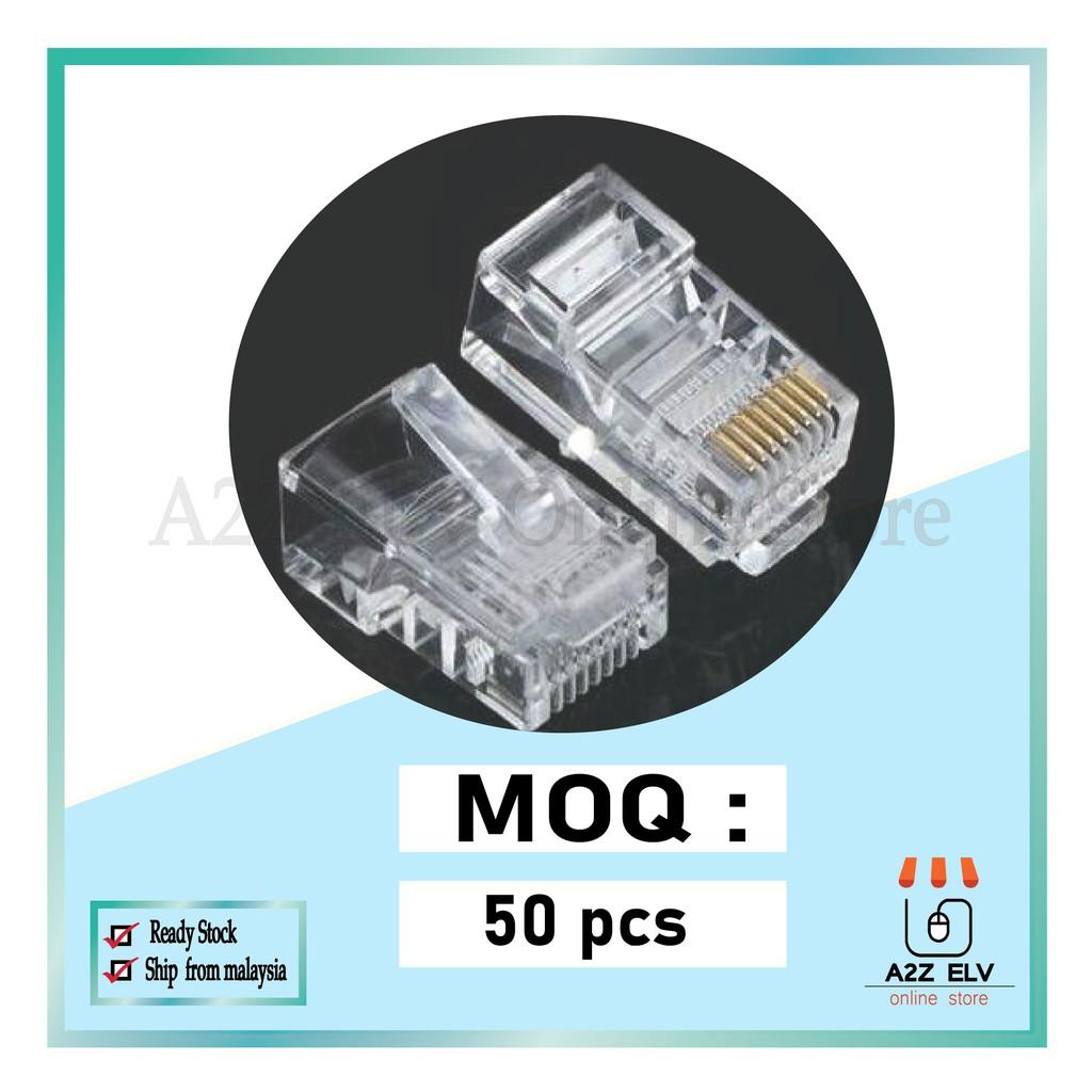 CAT6 RJ45 MODULAR PLUG 100% ORIGINAL - (1 pack with 50PCS )