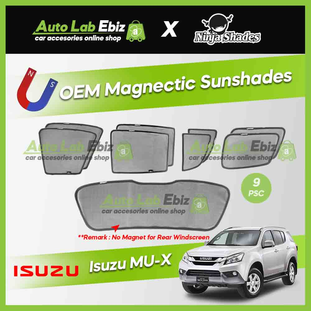 Isuzu MUX 2017-2018 Ninja Shades OEM Magnetic Sunshades Foldable (9pcs/set)