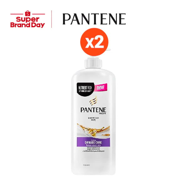 Pantene Shampoo 1200ML Total damage care 2 ขวด p&g