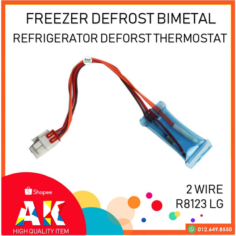 2 Wire Deforst Thermostat Bimetal R8123 Freezer Spare Parts