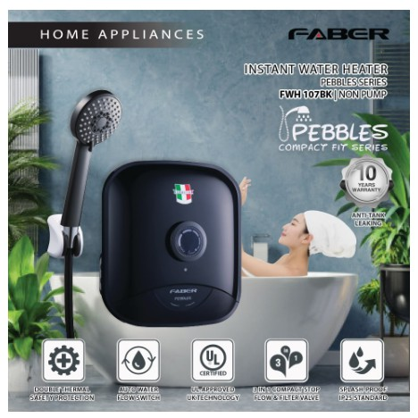 Faber Water Heater FWH PEBBLES 107BK