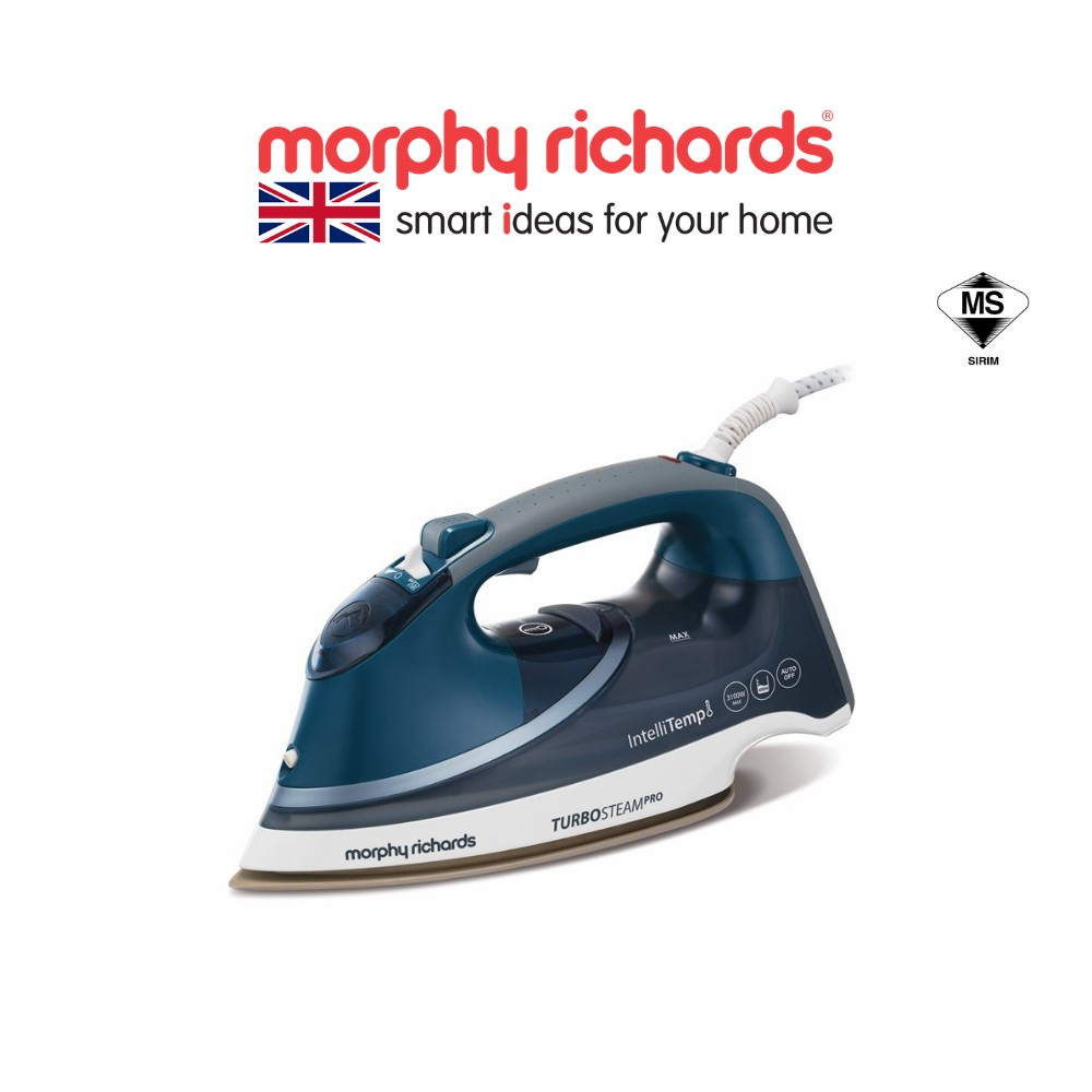 Morphy Richards Turbosteam Pro Steam Iron with Intellitemp Smart temp control for all fabric 303131