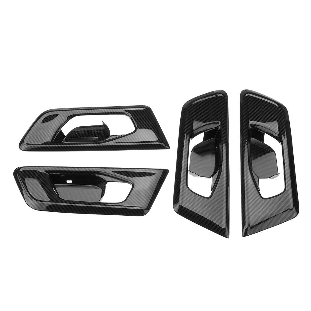 4pcs Carbon Fiber Style Side Door Handle Trim Cover For Honda CRV CR-V 2017 2018