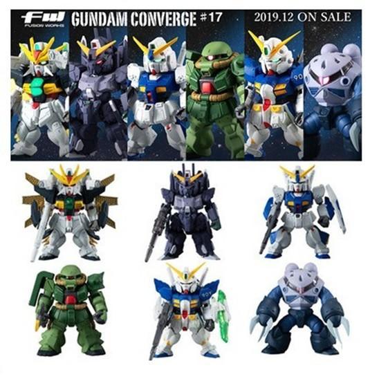 Gundam FW Converge 17 Gundam XX, Zgok, NT-1, Zaku, Cluster, Silver Beret