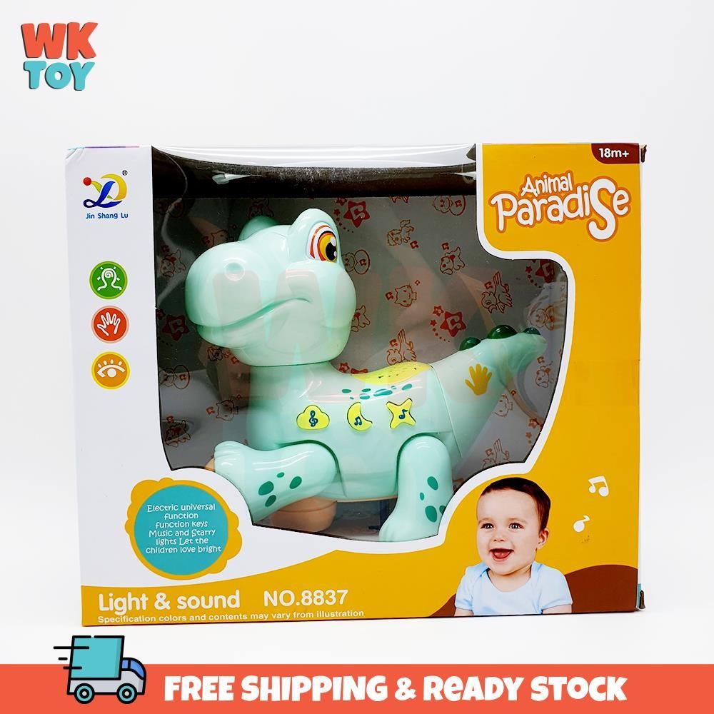WKTOY Baby Toddler Cute Rabbit Dinosaur Sound & Lights Toys