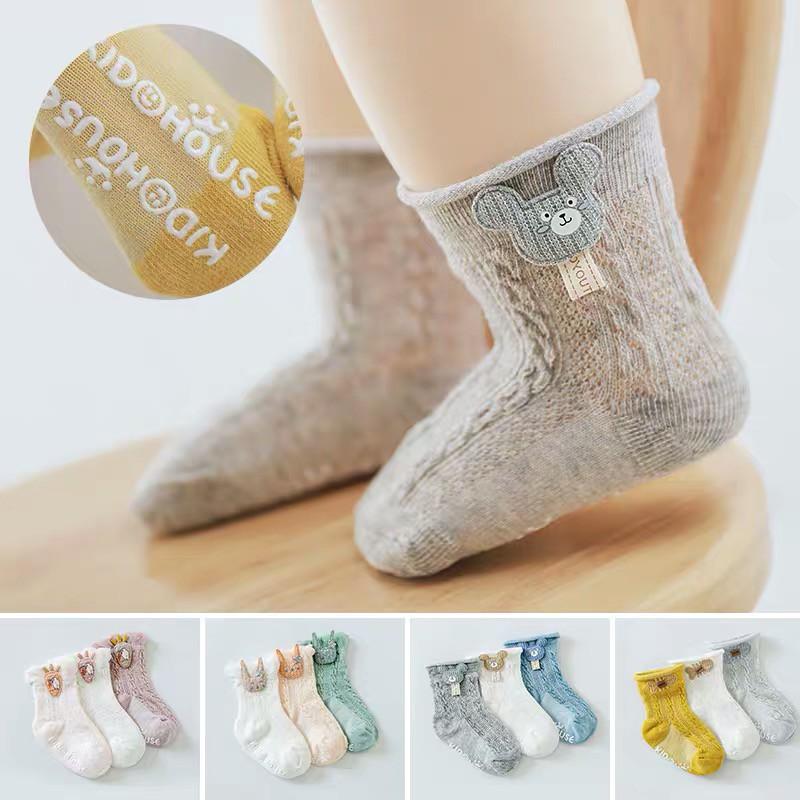 BOBORA Baby Girls Boys Knee High Cotton Socks Princess Lace Tight Ankle Anti-slip Cotton Socks for 0-8Years