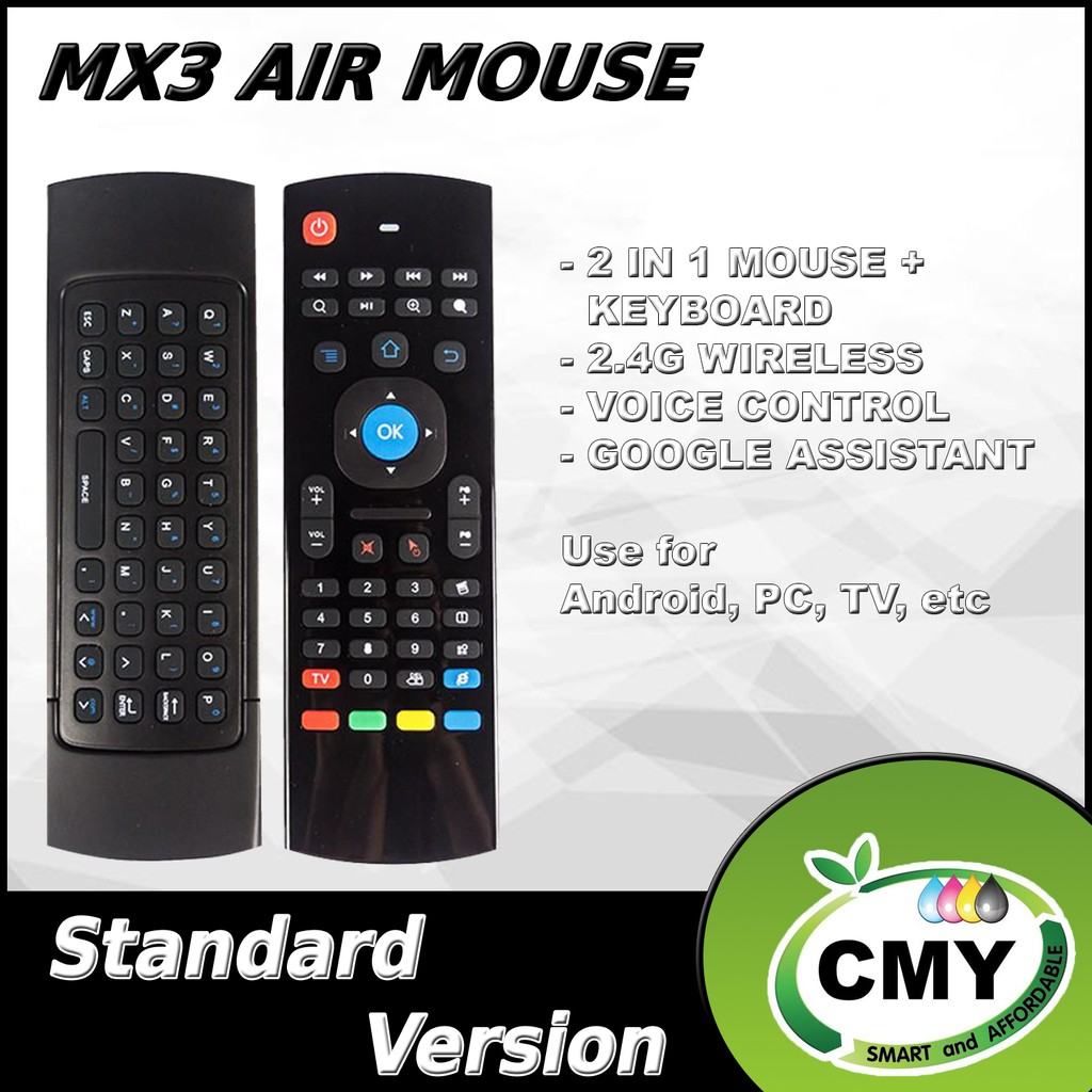 MX3 2.4G Wireless Air Mouse Airmouse Air Fly Mouse with Keyboard Smart Remote Control use for Android iOS Smart TV PC