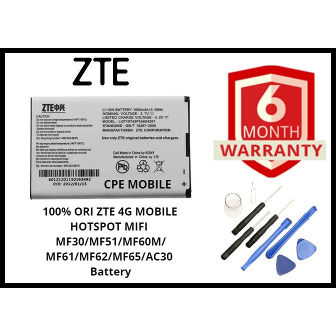 100% ORI ZTE 4G MOBILE HOTSPOT MIFI MF30/MF51/MF60M/MF61/MF62/MF65/AC30  Battery