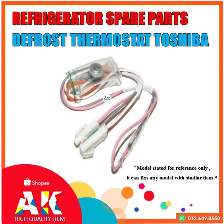 Defrost Thermostat Bimetal Toshiba R8116 Freezer Spare Parts (Peti Sejuk)