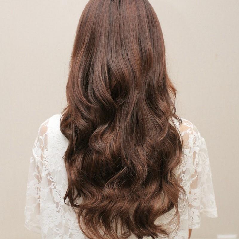 **โค้ด GLAM30 ลด 30%**Home 50CM Trendy ผมปลอม Turn Wavy Clip-On Trendy Long Wigs ถูกที่สุด ขายดีที่สุด คุ้มค่าท