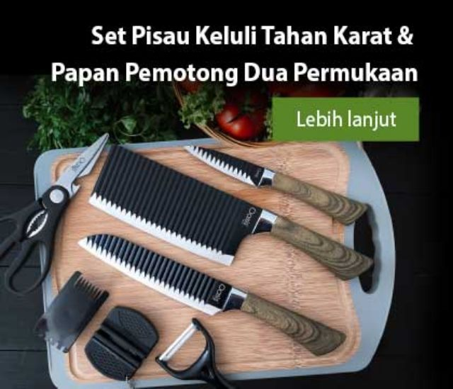 Amway Oasis Swiss Gourmet Kitchen Essential Knives Set Shopee Malaysia