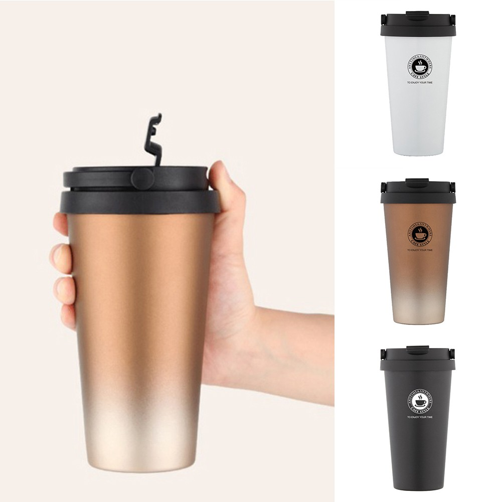 Double Hot500ml Wall Mug Steel Travel Coffee Stainless Cups Proof Tumbler Leak l1KcTFJ