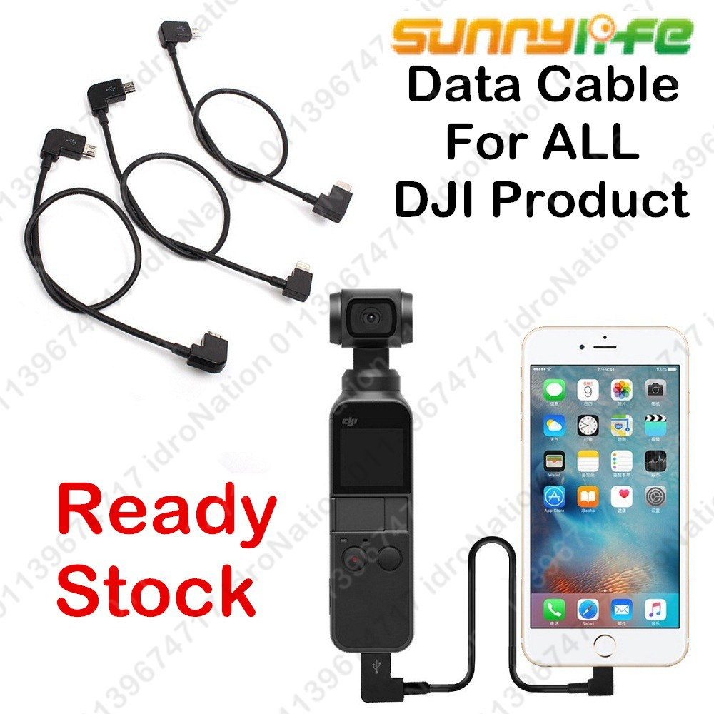 Data Cables USB DJI Mavic 2 Pro Air Spark Osmo Pocket Remote Android iPhone