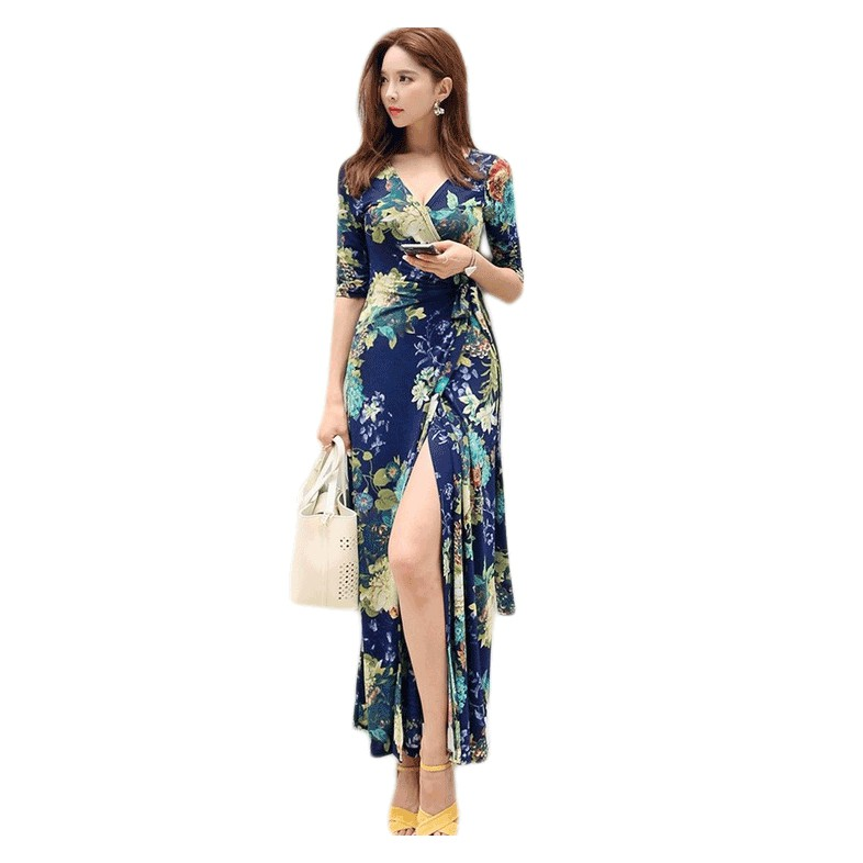 b7f8befac3 sis☆Women Chiffon Dress Floral Print Halter Sleeveless Split Backless Hollow  Out | Shopee Malaysia