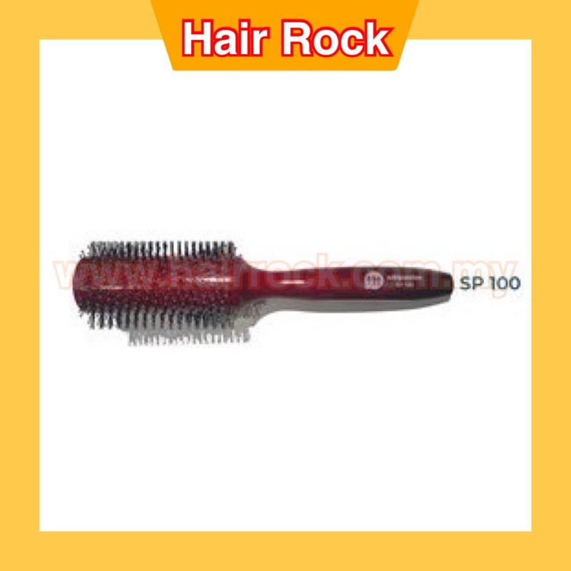 SUKIPASSION (RED) Wooden Hair Rolling Brush
