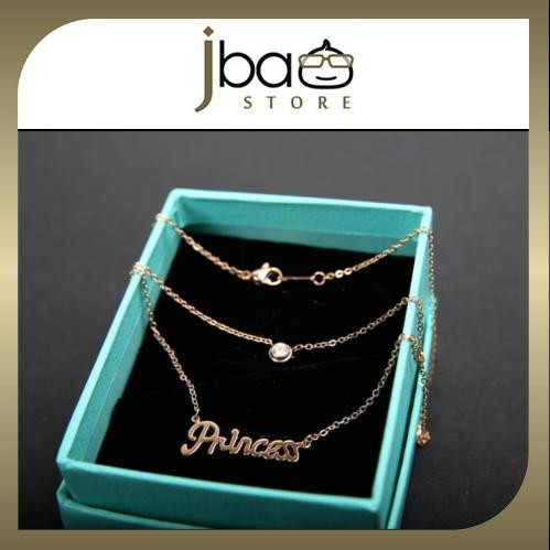 Princess with crystal stone necklaces Gift Special Edition Valentine's Day