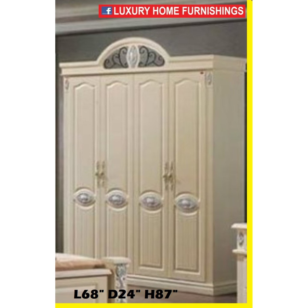 4 DOORS CUPBOARD/WARDROBE, CLASSICAL SERIES, EXPORT EDITION 1854, STANDARD PRICE RM 3,749!!  PROMOTION RM 2,449!