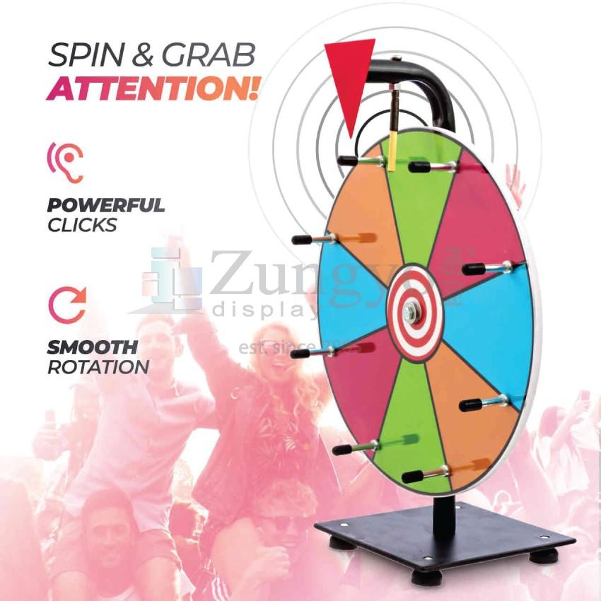 Spin & Win Wheel Of Fortune Mini Size 30cm diameter board Color Prize Wheel