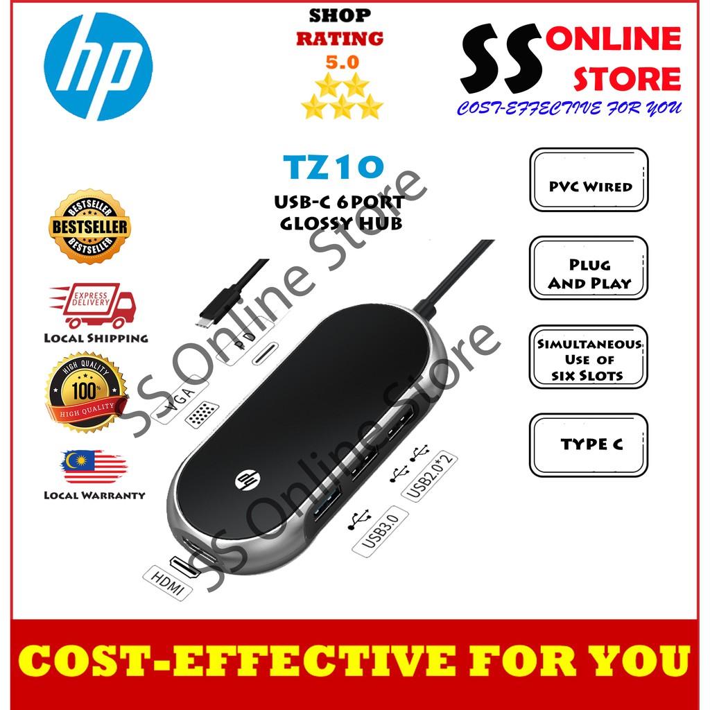 HP TZ10 USB-C 6 PORT GLOSSY HUB Multi USB 3.0 HUB HDMI Adapter Dock for MacBook Pro Huawei Mate 30 Splitter Port Type C