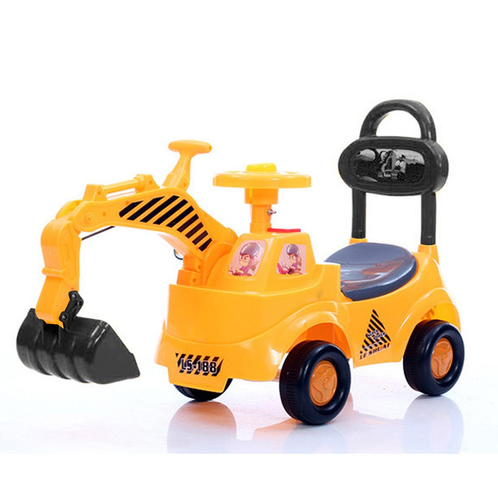 Children Engineer Playing Learning Ride-On Tractor
