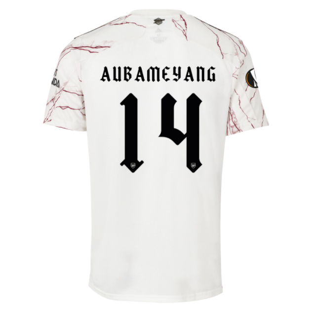 Arsenal Men Away Season 20/21 AEROREADY Fans Issue Jersey with Cup #14 AUBAMEYANG + Patch Printing