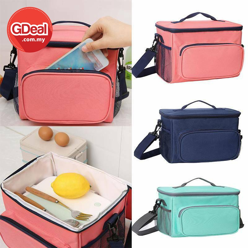GDeal Portable Insulation Oxford Cloth Lunch Box Simple Thermal Insulated Bag Beg Penebat Haba بيڬ ڤنبت هاب