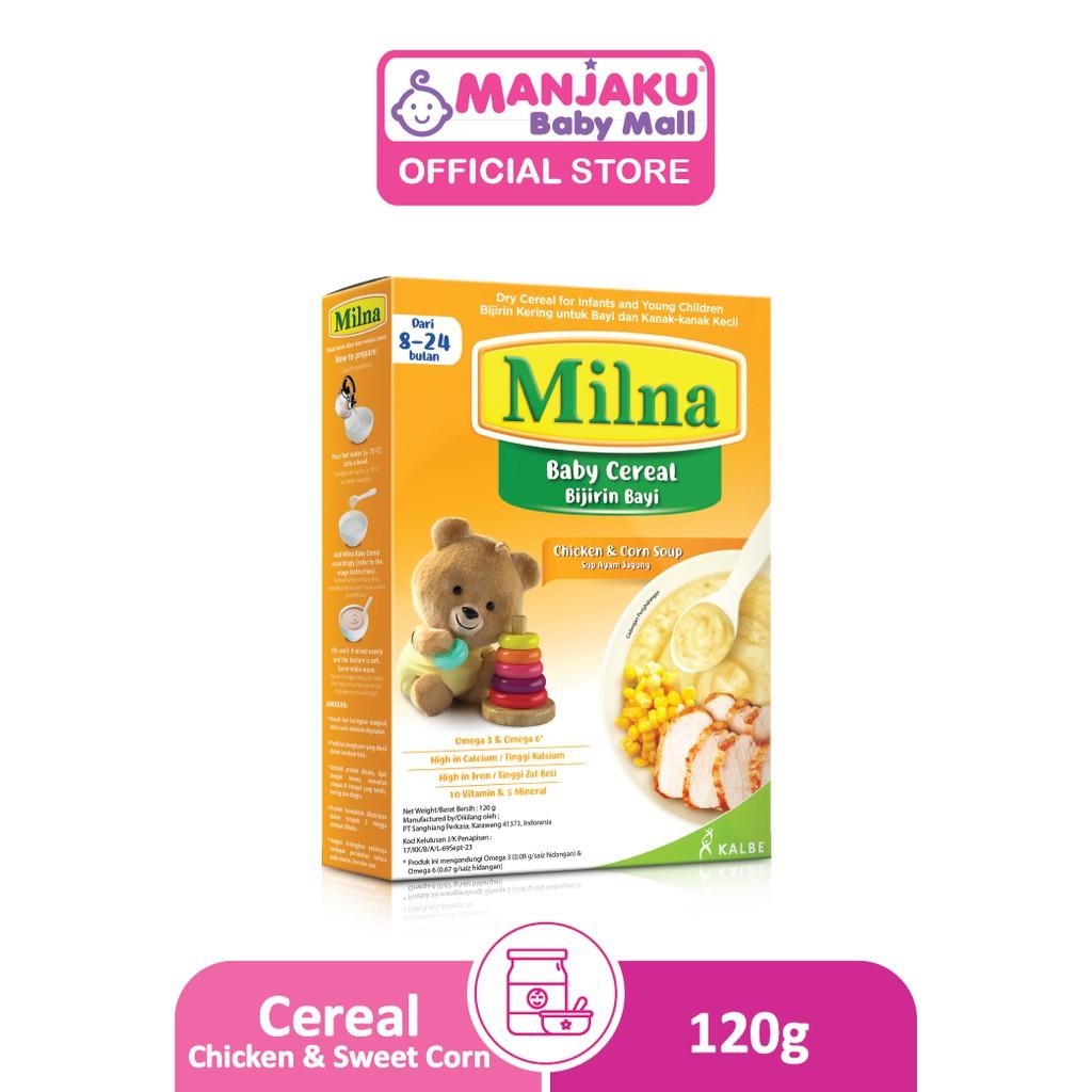 Milna Baby Cereal (8-24 months) (120g) - Chicken & Corn Soup Flavor