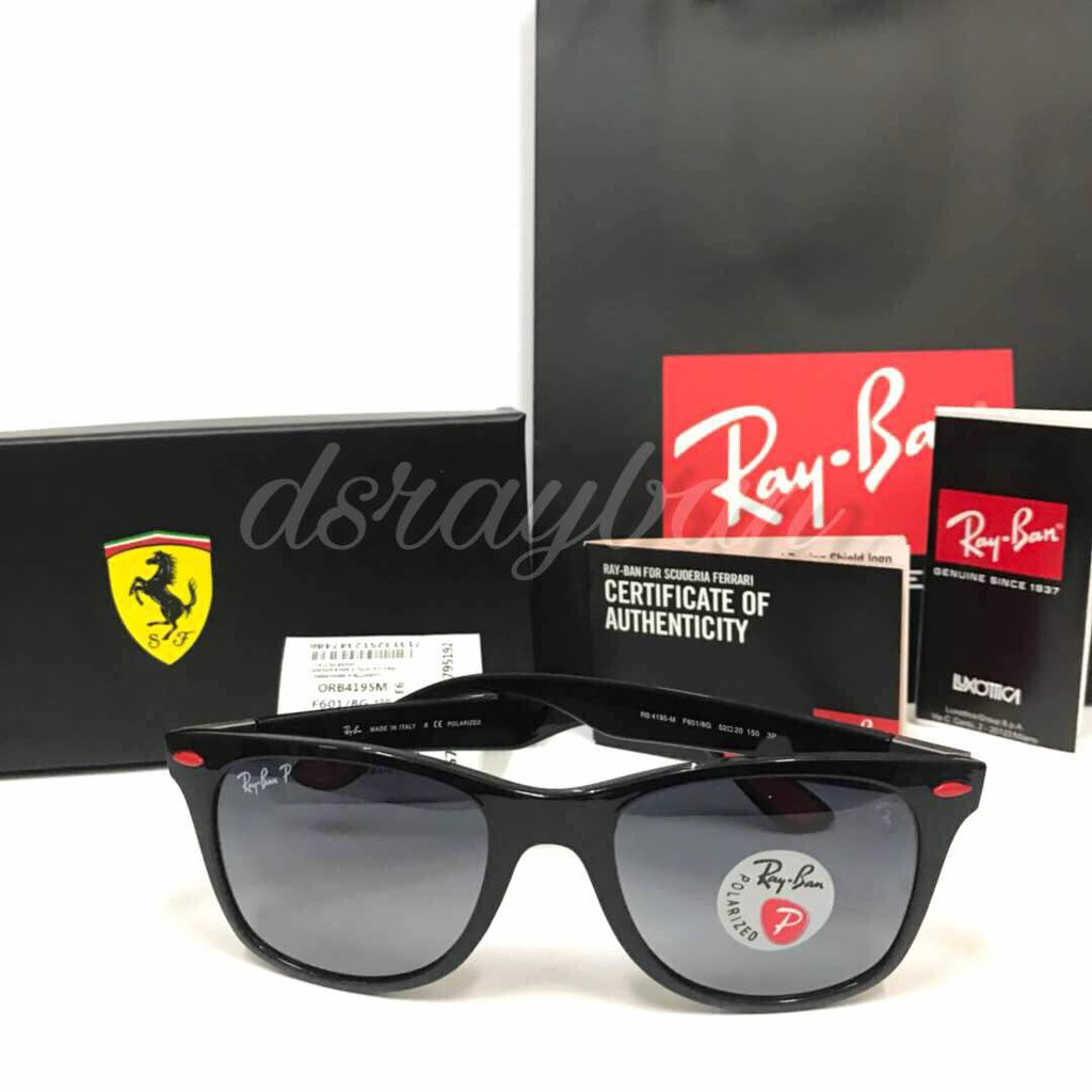 ff3d5f34ec Original Ray Ban Liteforce Ferrari RB4195