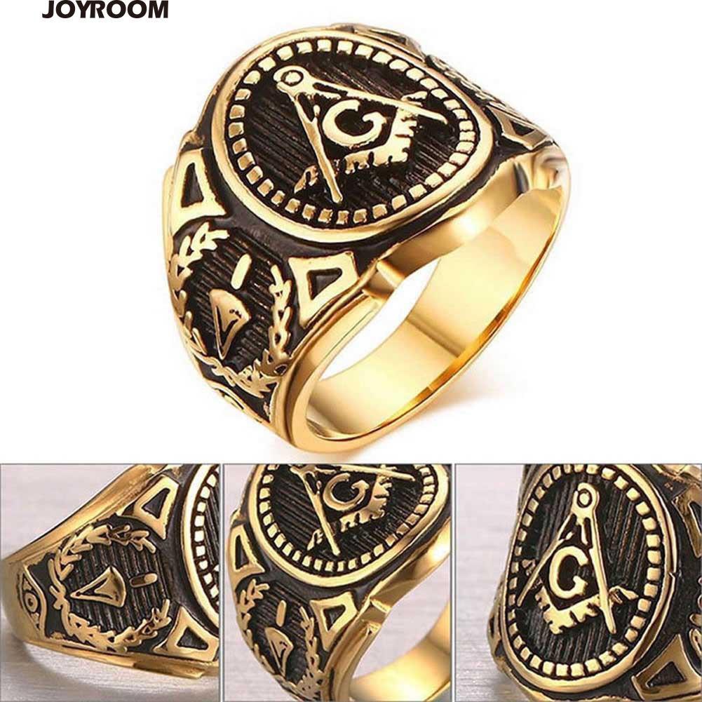 Vintage Alloy Punk Freemason Sign Masonic Ring Men Personality Jewelry Gift | Shopee Malaysia
