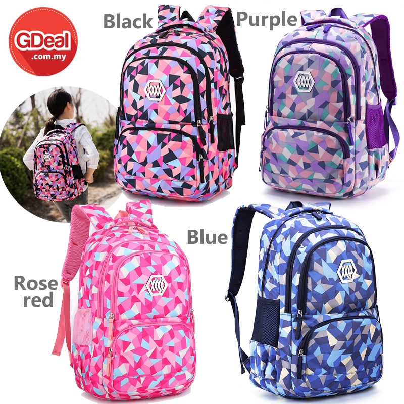 GDeal Oxford Cloth Girl Backpack New Fashion School Girls Backpacks Suitable For 3-4-6 Grade Children Backpack