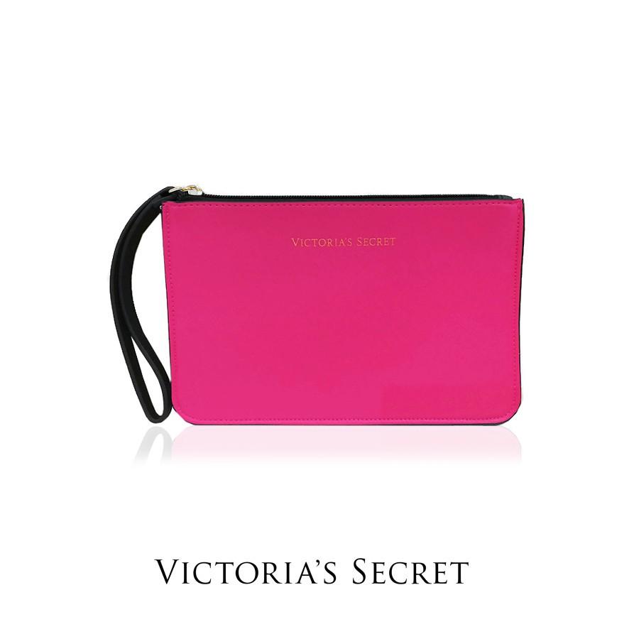6cbcc7b6db AUTHENTIC VICTORIA S SECRET COSMETIC BAG (PINK-WORDING)  READY STOCK (VCHB- 252)