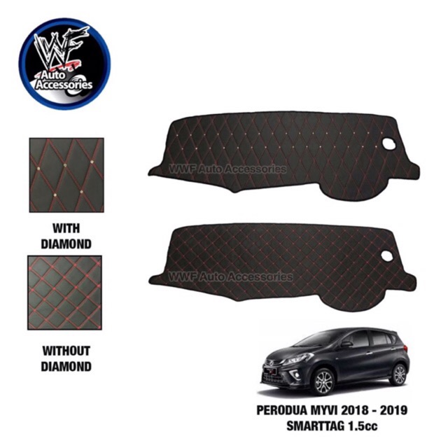 Perodua Myvi 2018 SmartTag Non Slip Dashboard Cover with / without Diamonds  ( 1 5cc )