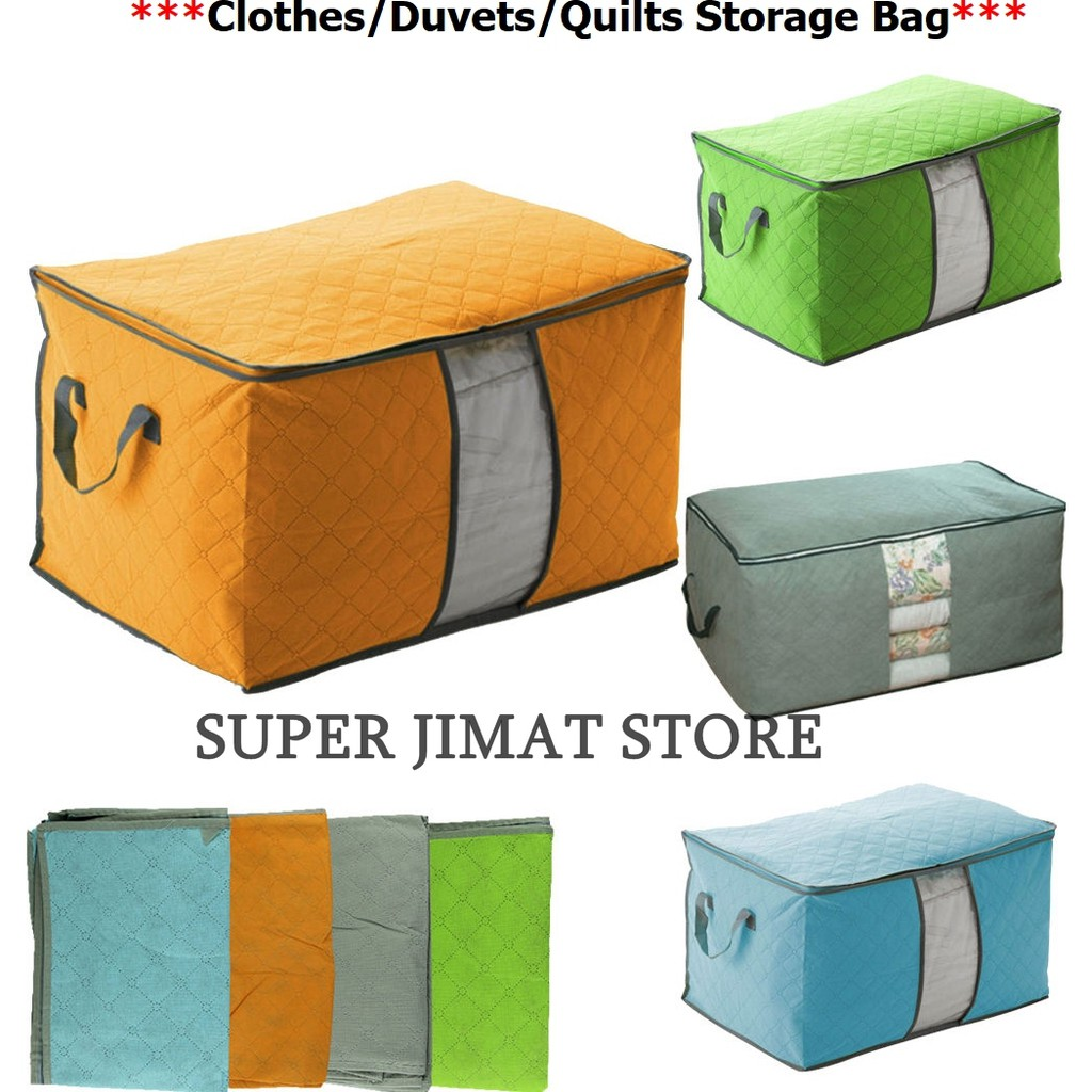 Bamboo Charcoal Large Household Foldable Quilt Storage Bags