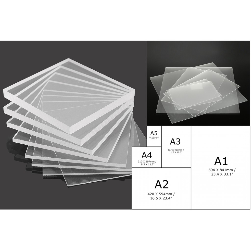 Acrylic Sheet /Perspex 3mm thickness Opaque White size A3 (420mm x 297mm)