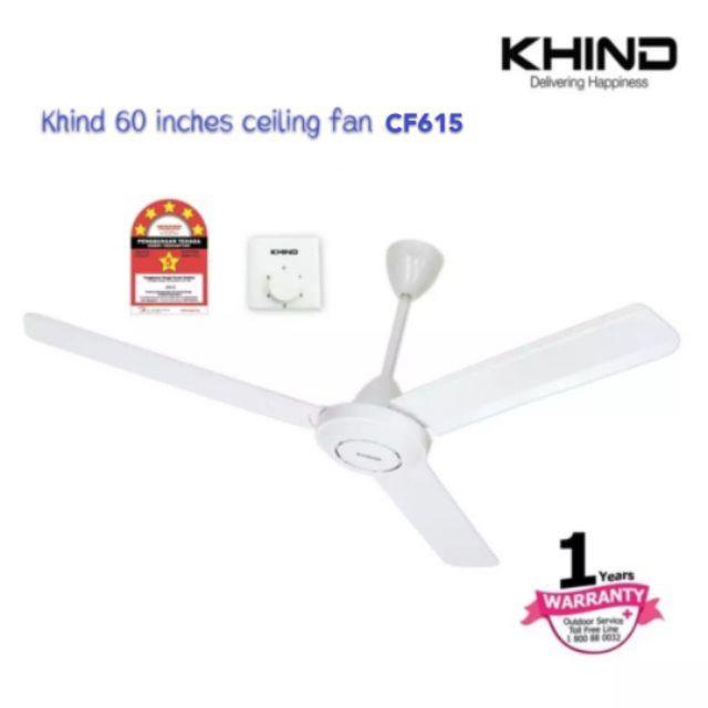 "Kipas Siling 60"" inches KHIND CF615 (WHITE)"