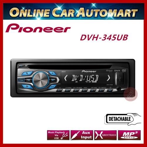 Pioneer Single Din DVD/USB/FM Receiver  (DVH-345UB)