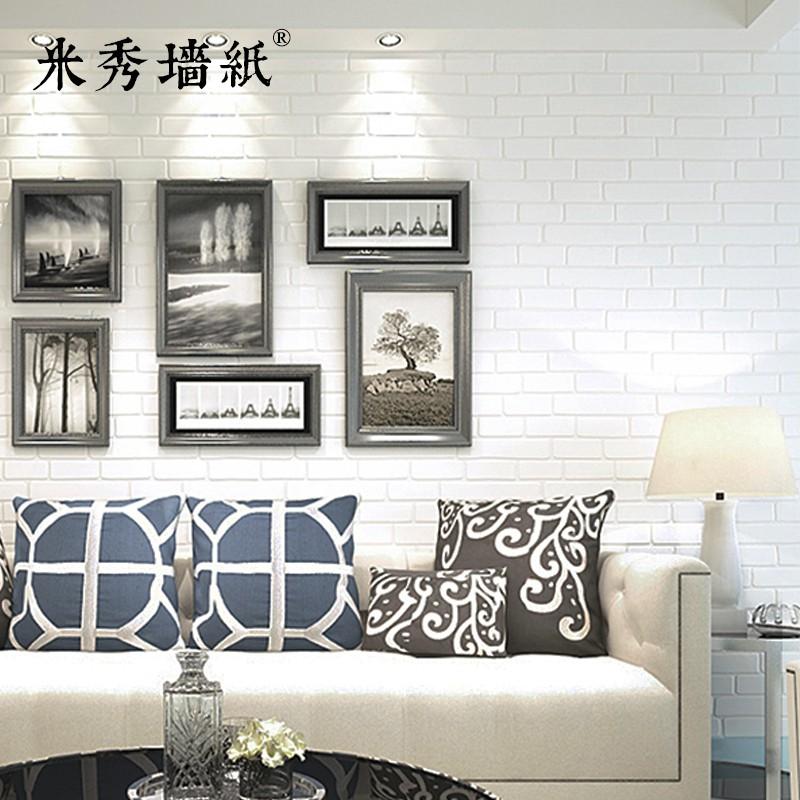 3D solid white brick, brick, wallpaper, bedroom, living room, hairdressing  shop,