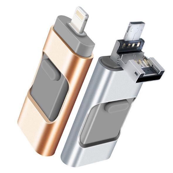 Apple iPhone U disk stick 32GB, 64GB dual-use OTG Flash drive 3-in-1 USB Apple, Android, Computer