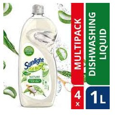 Sunlight Dishwash Liquid Extra Nature 4 x 1L