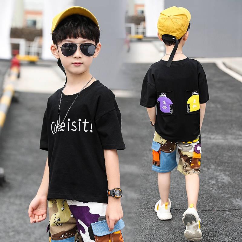 Pakaian Penyamaran Pakaian Kanak Kanak Sut Musim Panas Kanak Kanak Lelaki 2020 Sut Dua Helai Kanak Kanak Baru Penyamaran Lelaki Besar Gaya Korea Gaya Tampan Shopee Malaysia