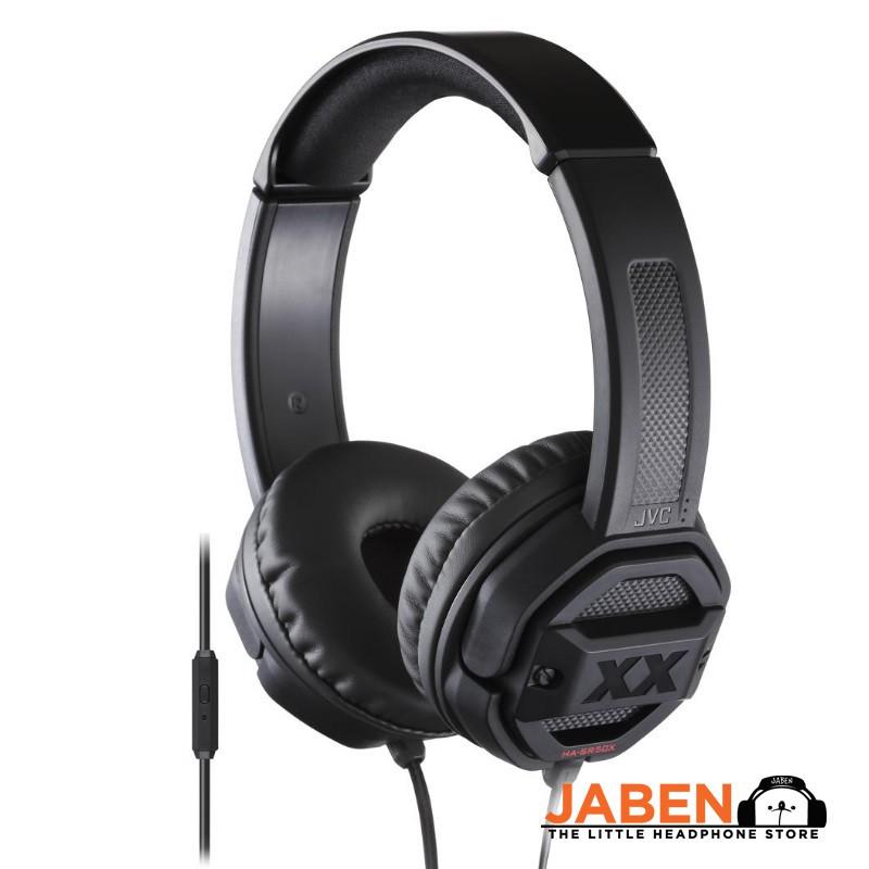 JVC HA-SR50X Xtreme Xplosive Deep Bass In-Line Mic Remote Control Closed Back On-EarHeadphones [Jaben]