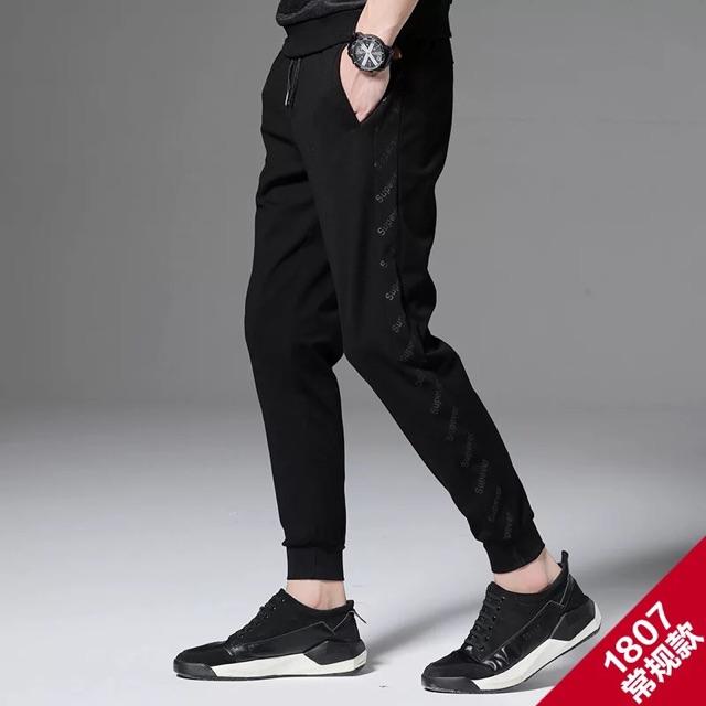 [M~4XL]Men Clothing Korean Casual Sports Pants 春季男士裤子男韩版潮流百搭休闲裤运动裤男宽松束脚裤卫裤春秋款
