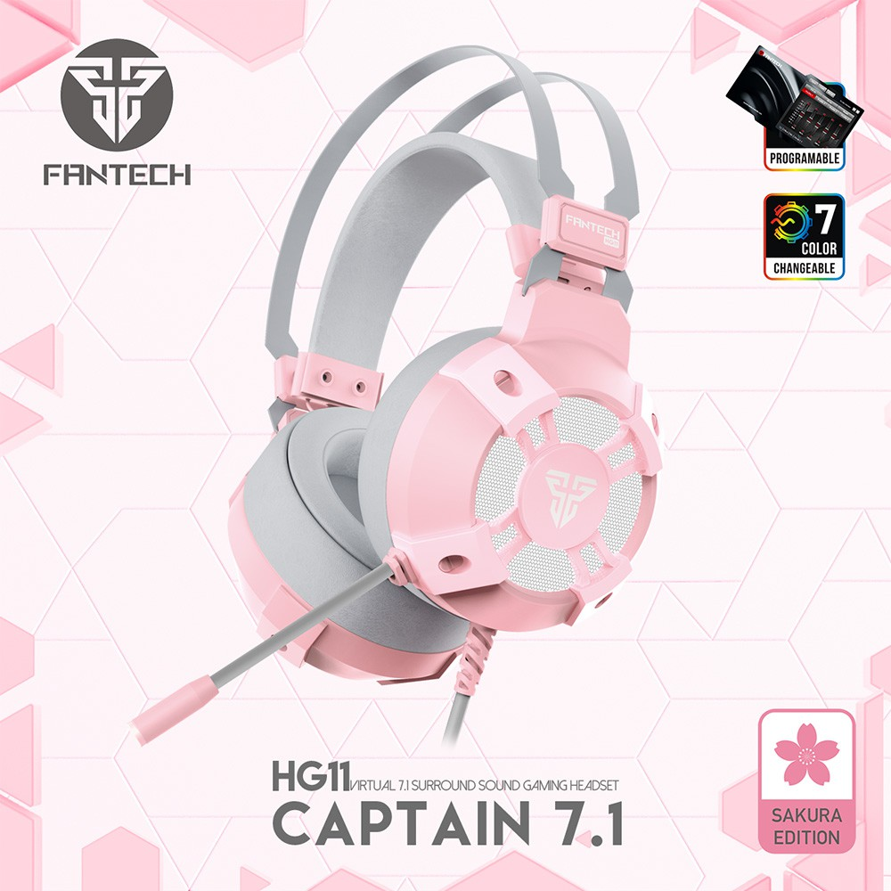 Fantech Sakura Pink Edition Gaming Gear Accessories Mouse, Keyboard, Headset, Mousepad, Speaker, Headset Stand Limited