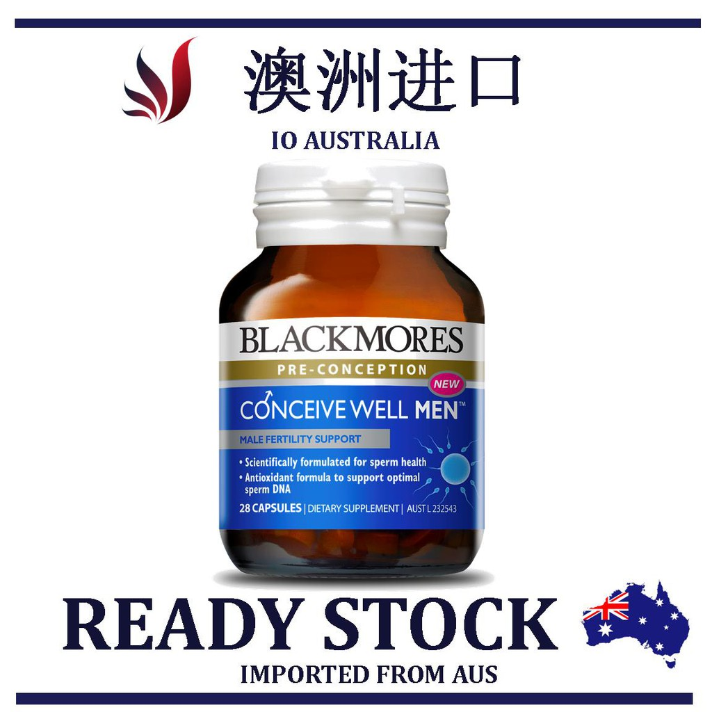 READY STOCK Blackmores Conceive Well Men 28 capsules 男性备孕复合维生素