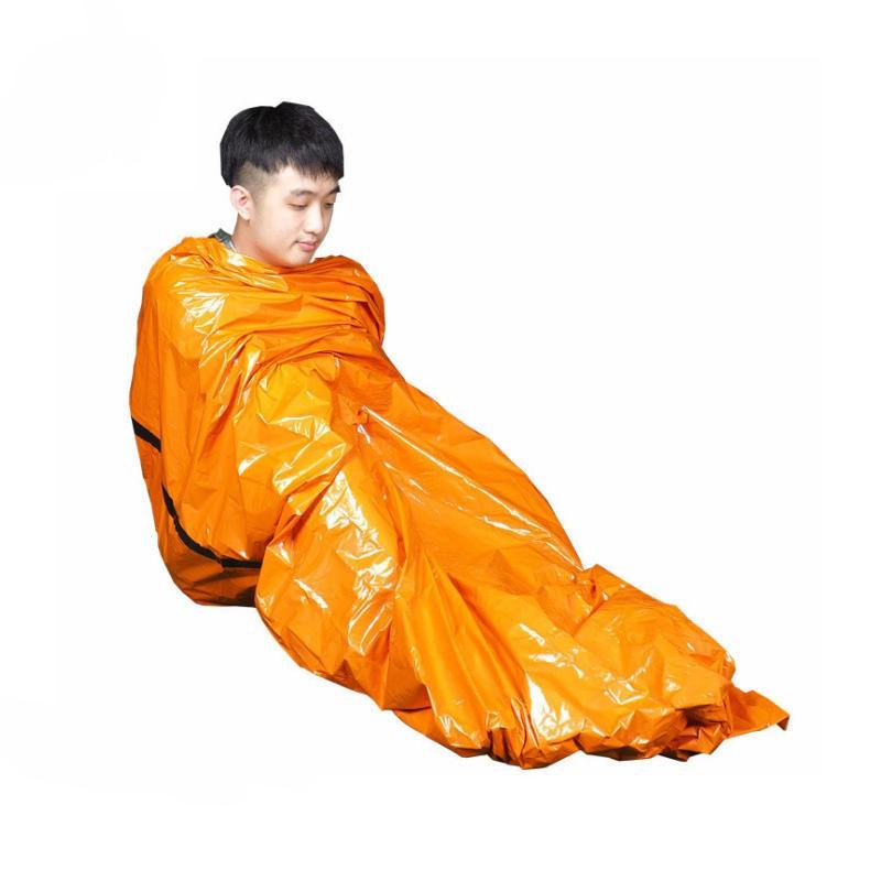 IPRee 203x90cm Thermal Survival Blanket Outdoor Emergency Sleeping Pad Waterproof First Aid Mat